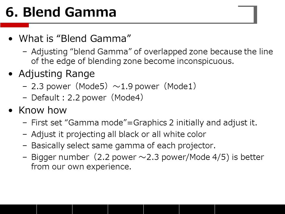 6. Blend Gamma What is Blend Gamma Adjusting Range Know how