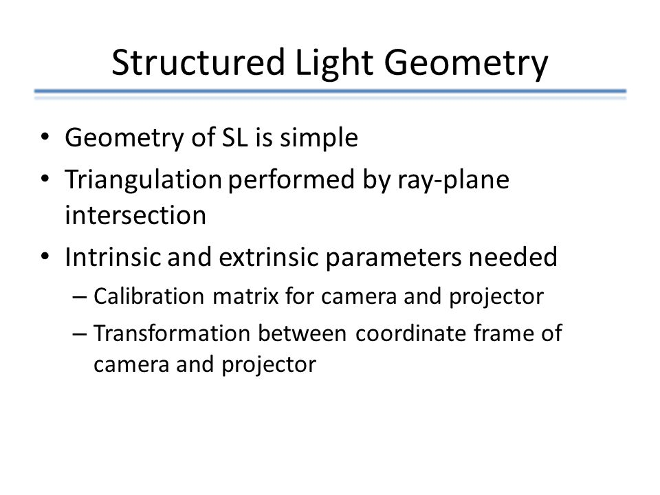 Structured Light Geometry