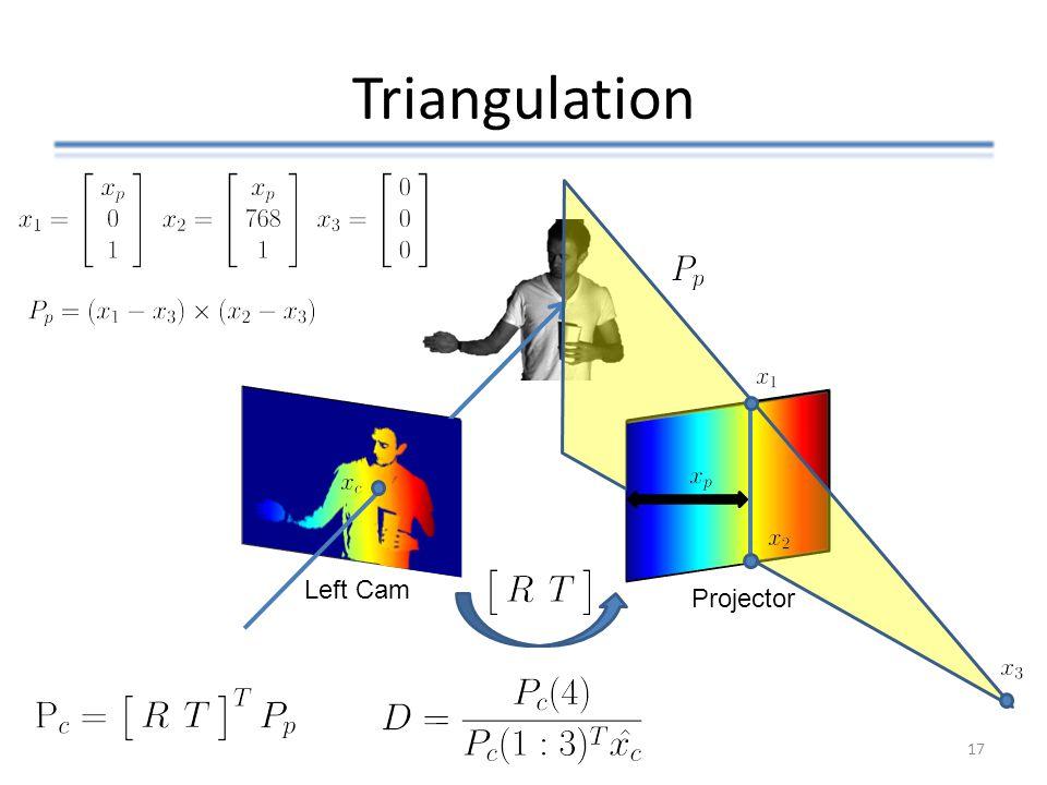 Triangulation Left Cam Projector