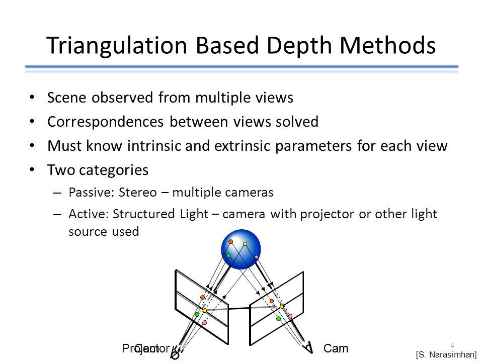 Triangulation Based Depth Methods