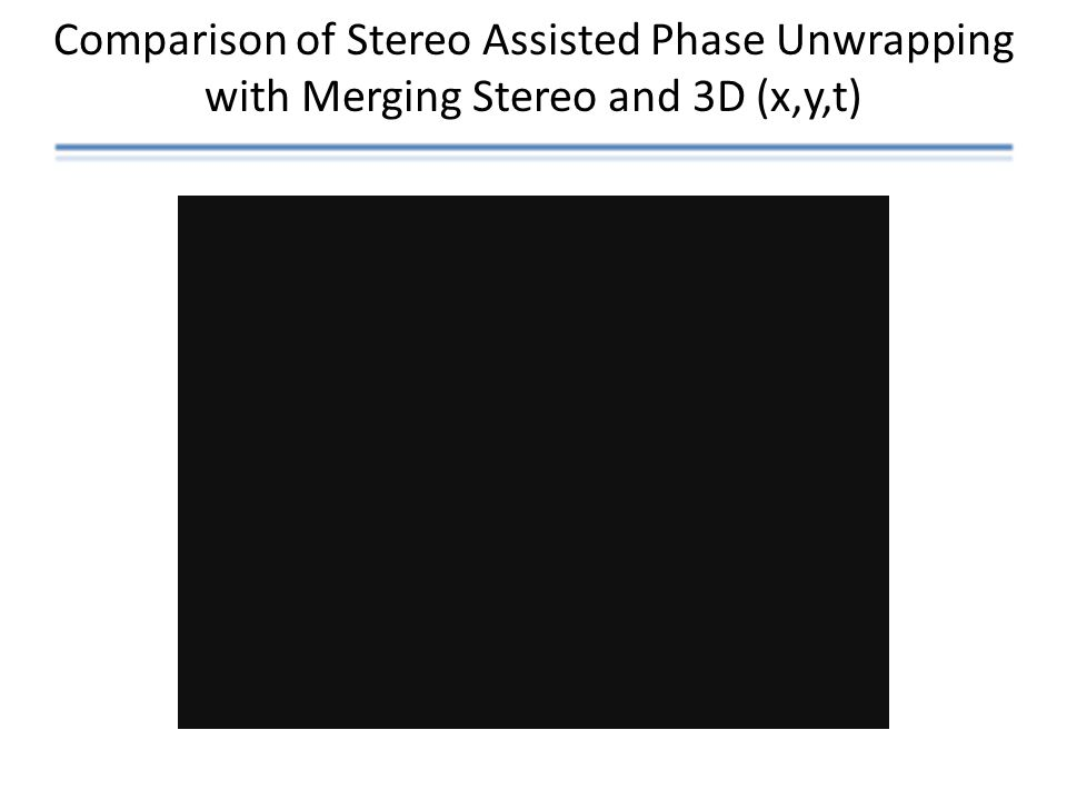 Comparison of Stereo Assisted Phase Unwrapping with Merging Stereo and 3D (x,y,t)