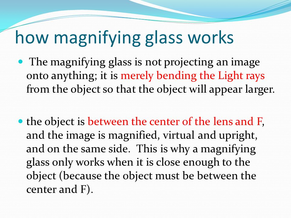 how magnifying glass works