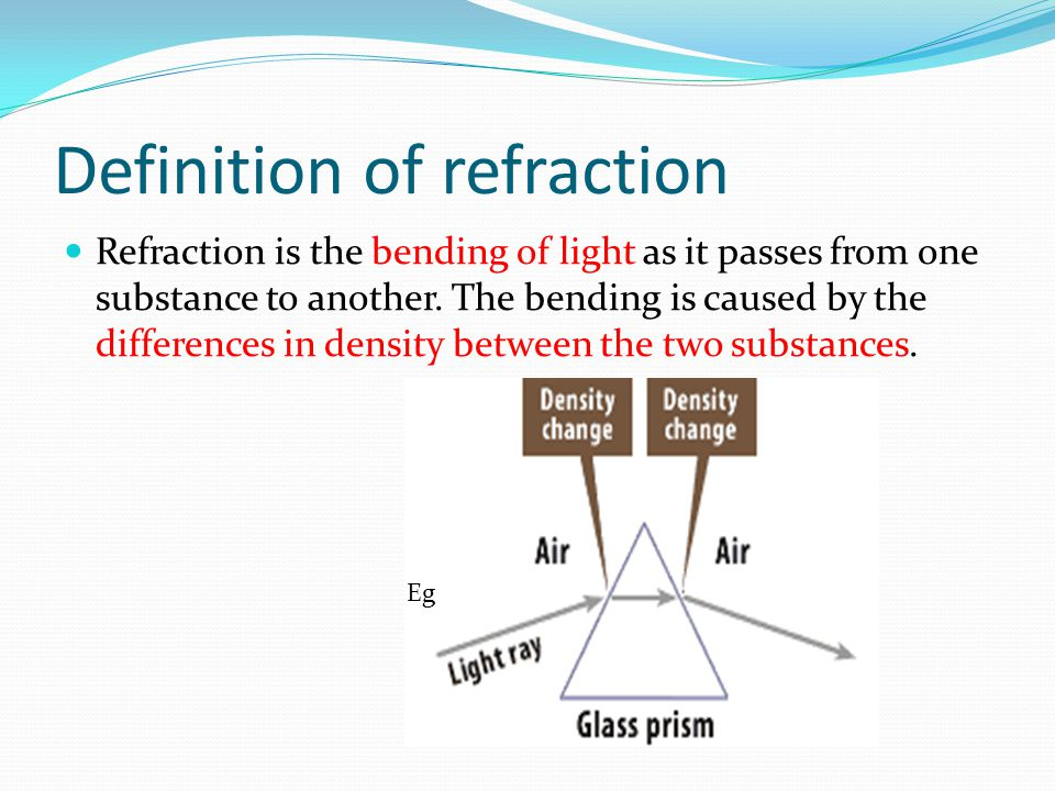 Definition of refraction