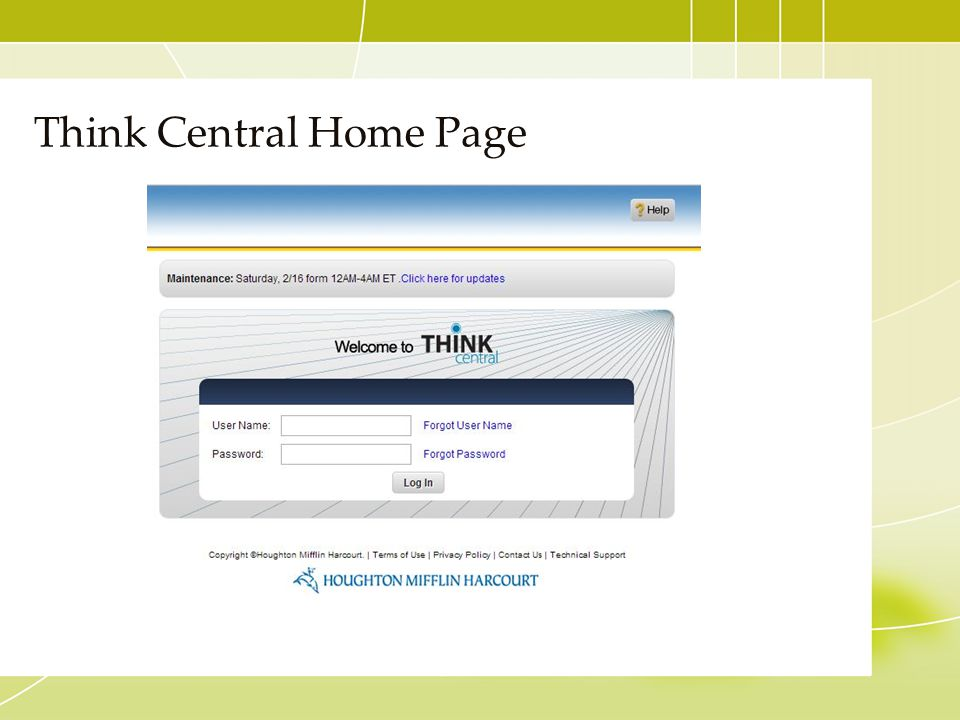 Think Central Home Page