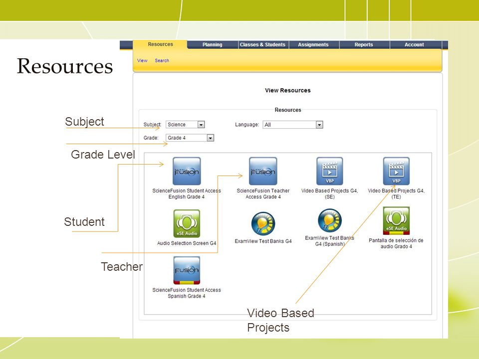 Resources Subject Grade Level Student Teacher Video Based Projects