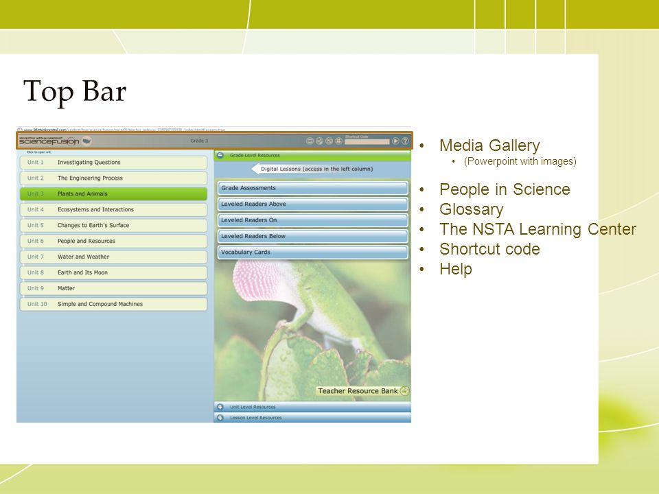 Top Bar Media Gallery People in Science Glossary