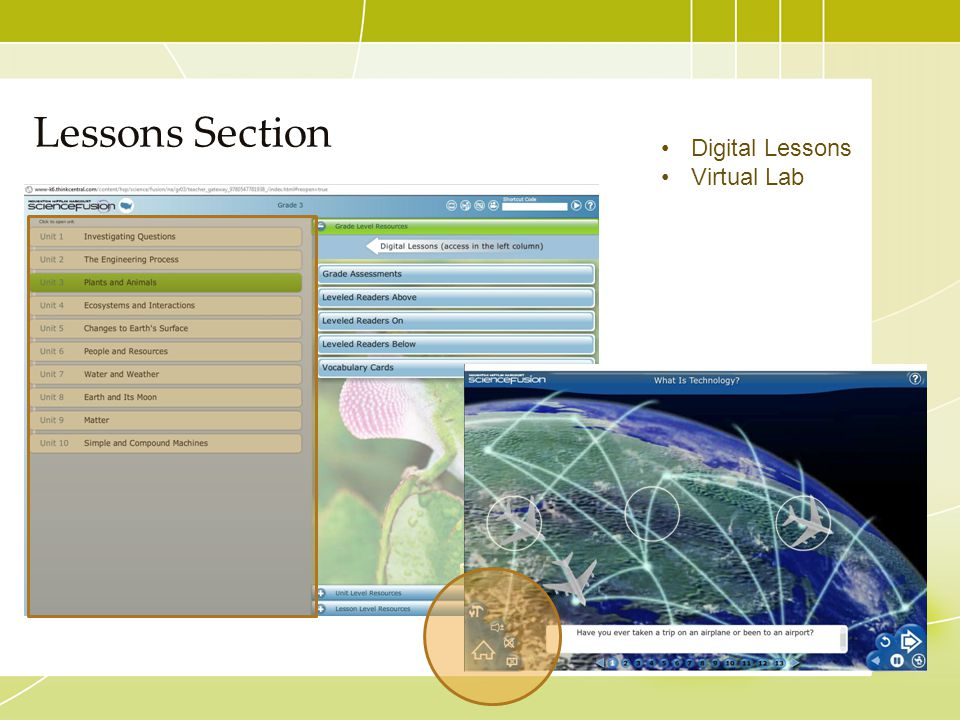 Lessons Section Digital Lessons Virtual Lab