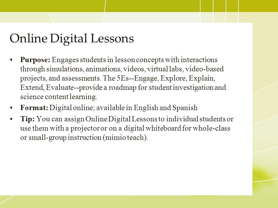 Online Digital Lessons
