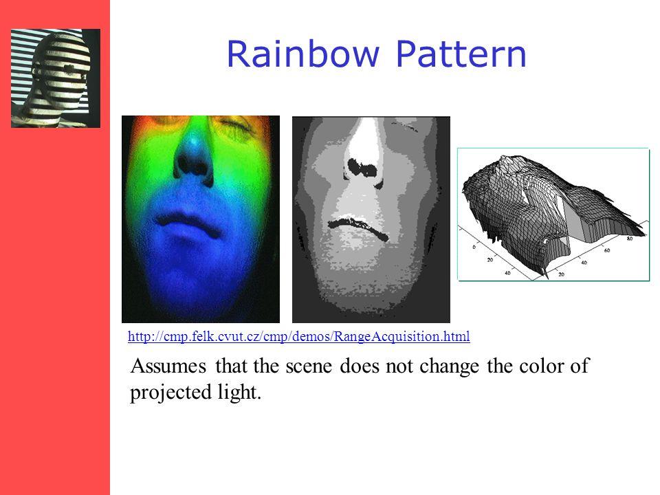Rainbow Pattern http://cmp.felk.cvut.cz/cmp/demos/RangeAcquisition.html.