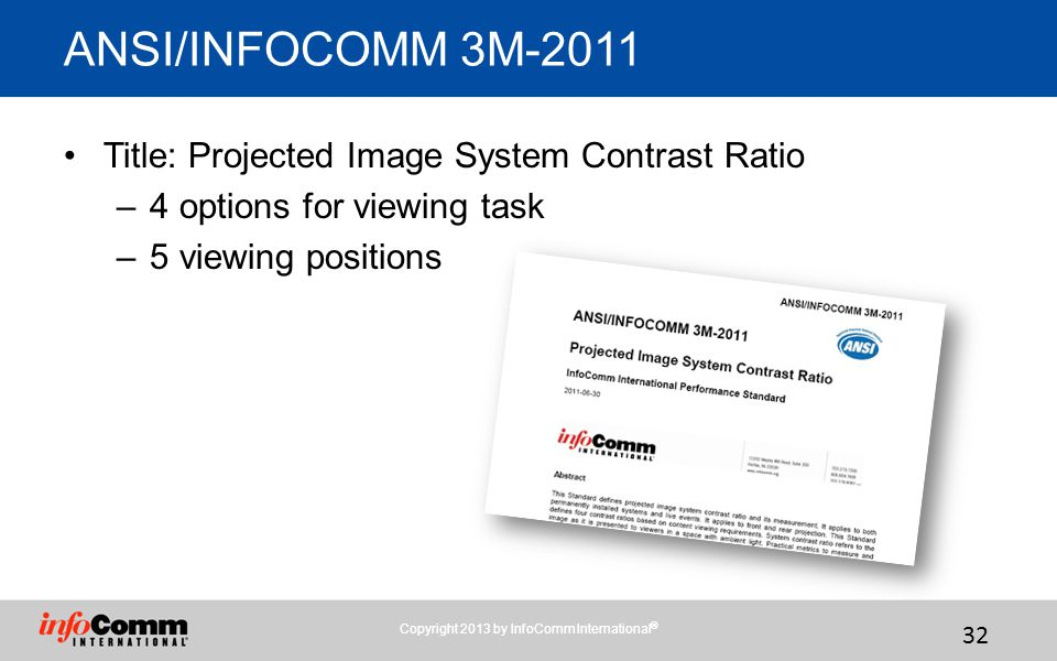 Copyright 2013 by InfoComm International®