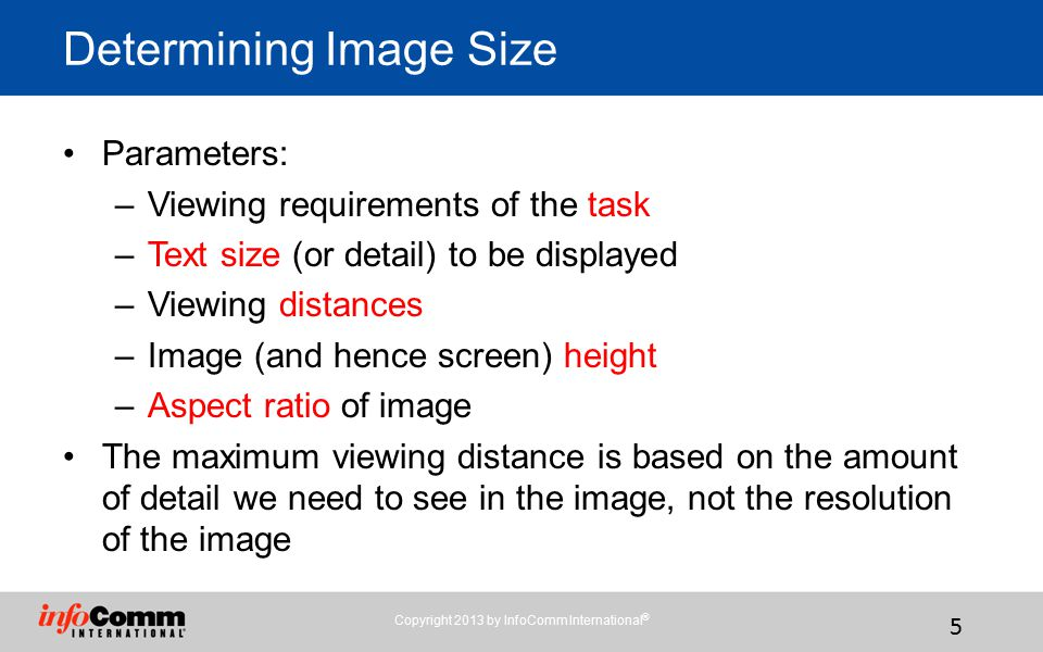 Determining Image Size