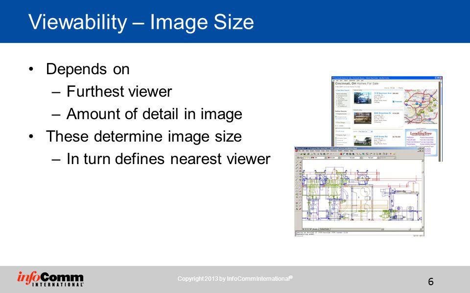 Viewability – Image Size
