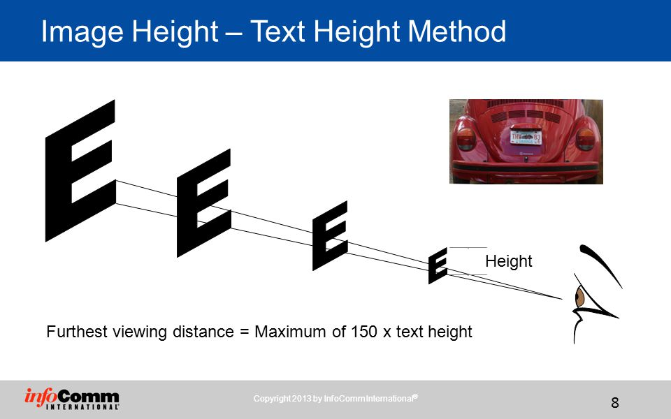 Image Height – Text Height Method