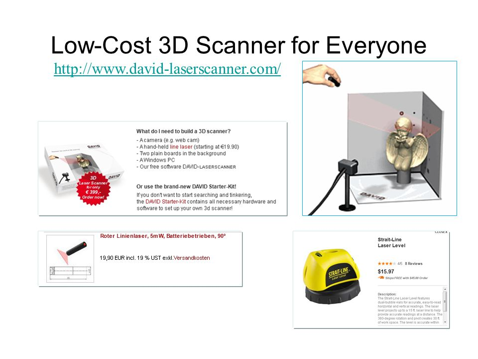 Low-Cost 3D Scanner for Everyone
