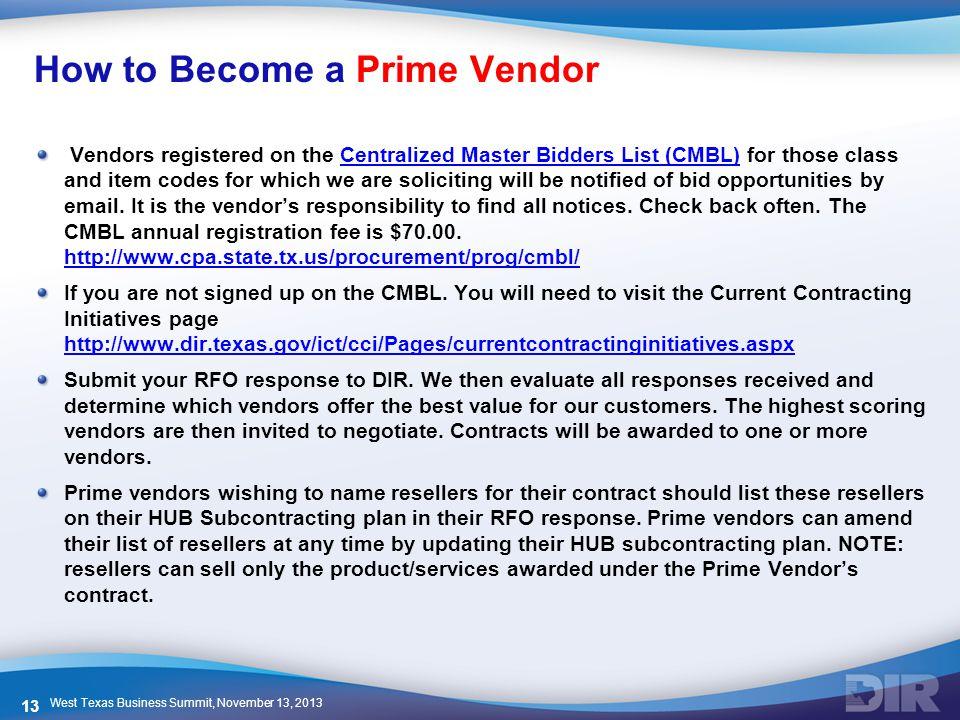 How to Become a Prime Vendor