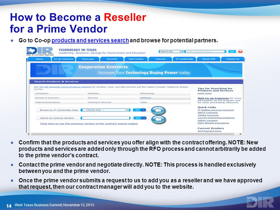 How to Become a Reseller for a Prime Vendor