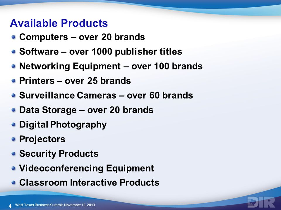 Available Products Computers – over 20 brands