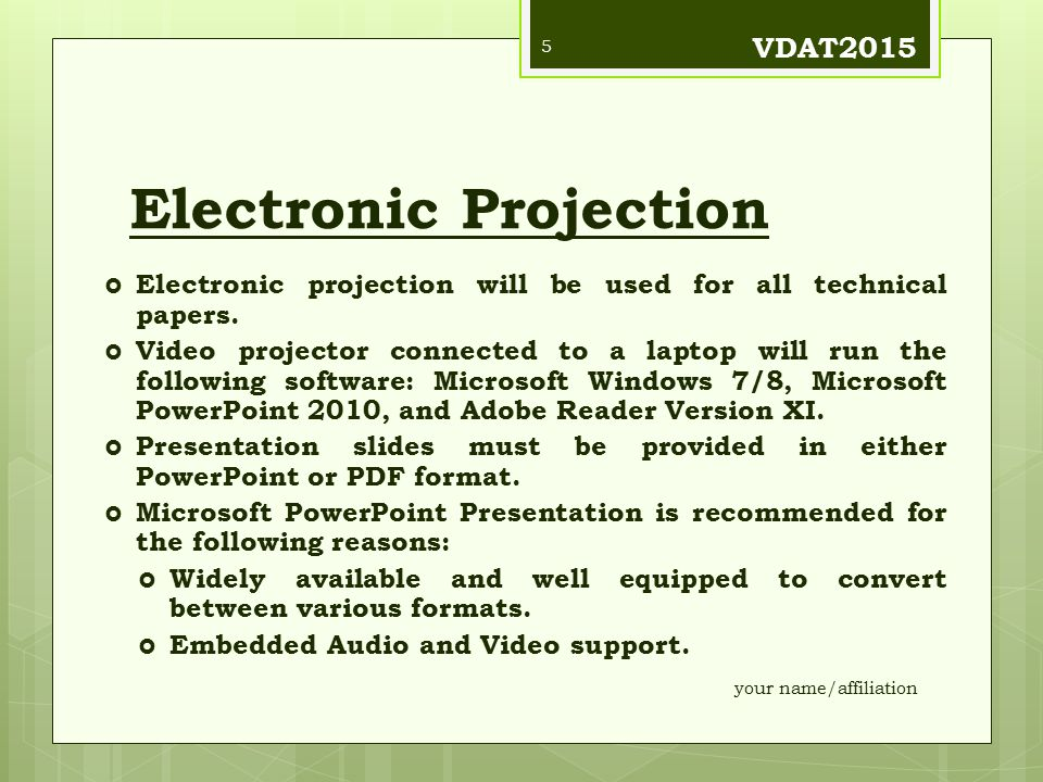 Electronic Projection