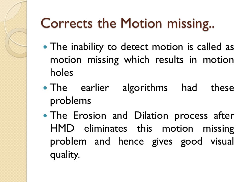 Corrects the Motion missing..