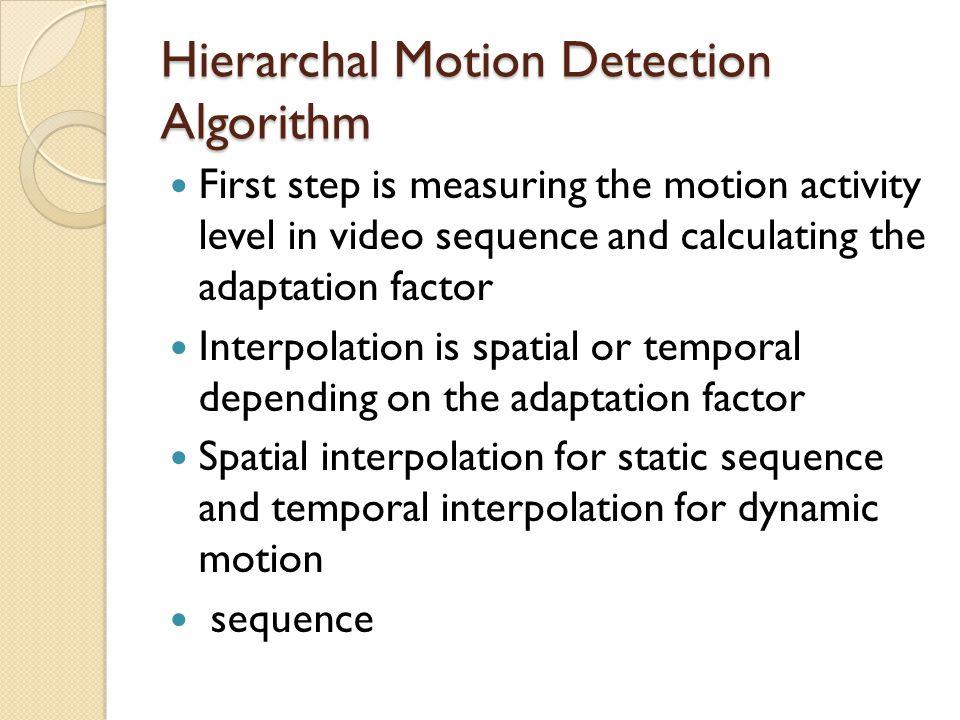 Hierarchal Motion Detection Algorithm