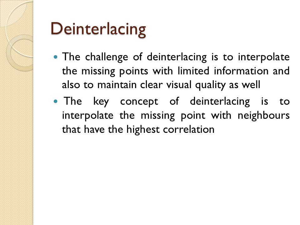Deinterlacing