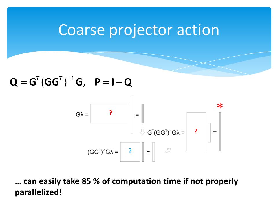 Coarse projector action