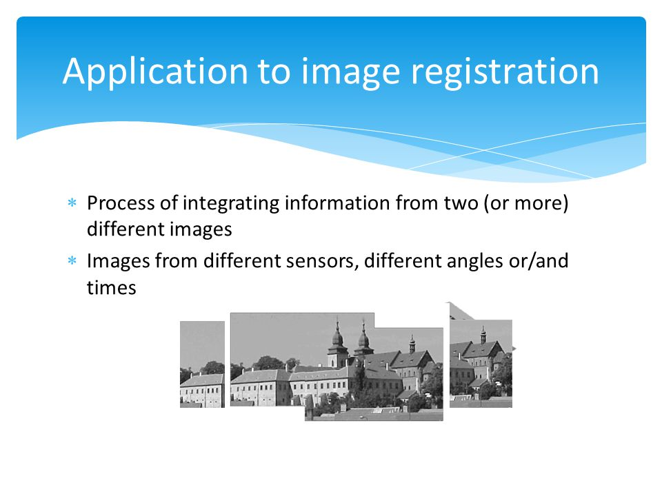 Application to image registration