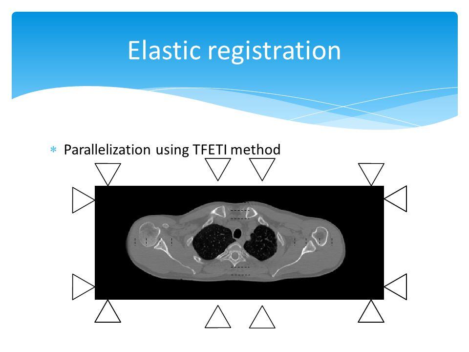 Elastic registration Parallelization using TFETI method