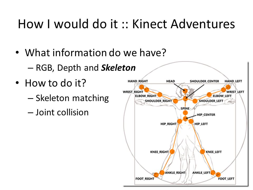 How I would do it :: Kinect Adventures