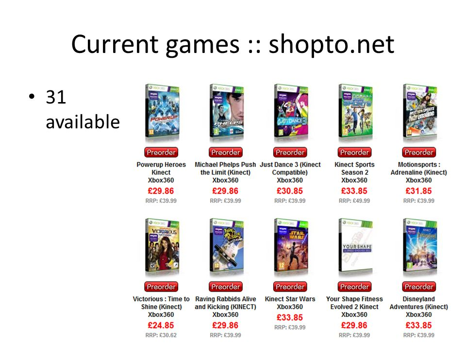 Current games :: shopto.net