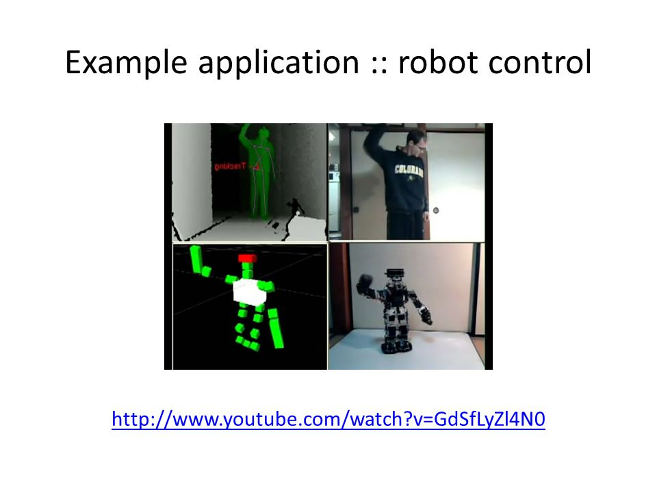 Example application :: robot control