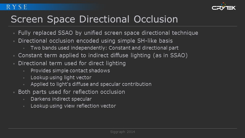 Screen Space Directional Occlusion