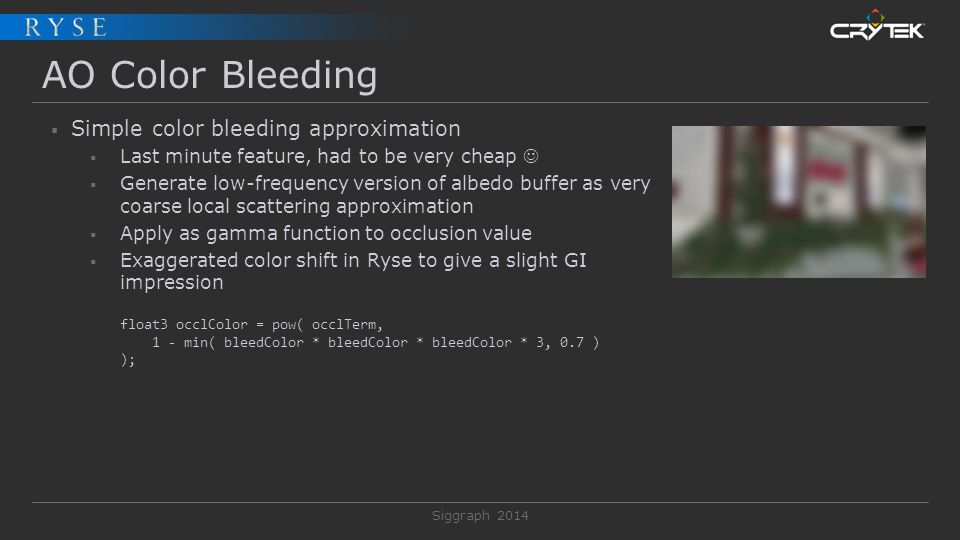 AO Color Bleeding Simple color bleeding approximation