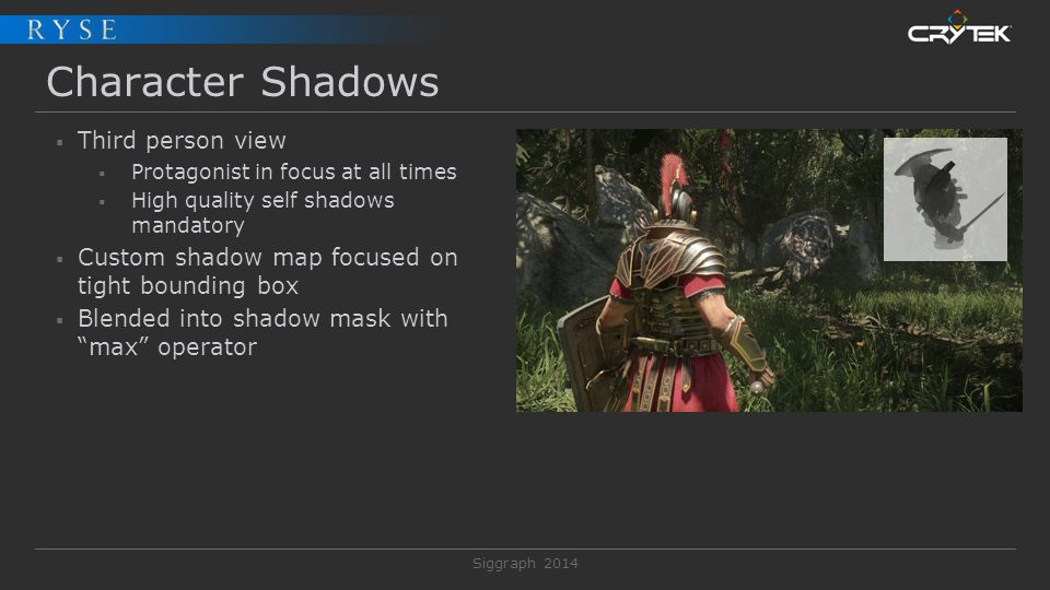 Character Shadows Third person view