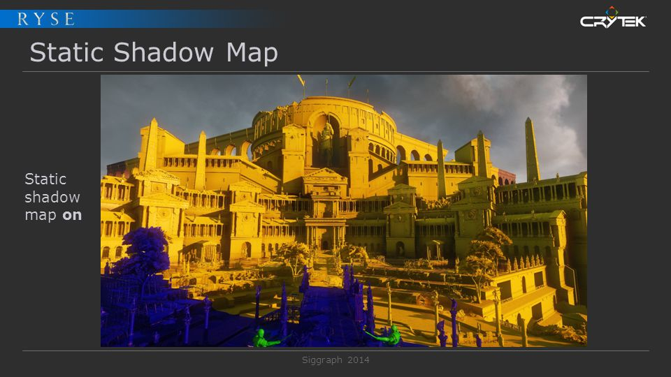 Static Shadow Map Static shadow map on