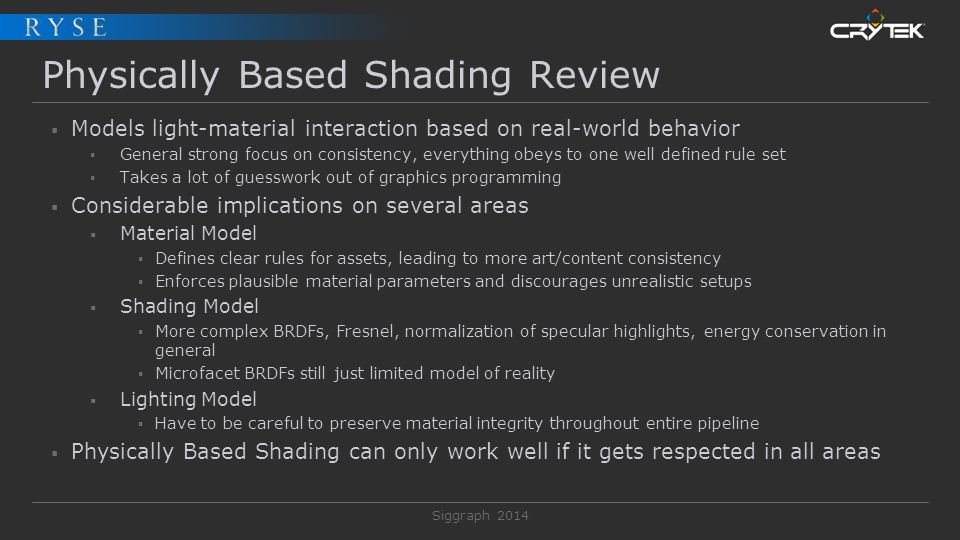 Physically Based Shading Review