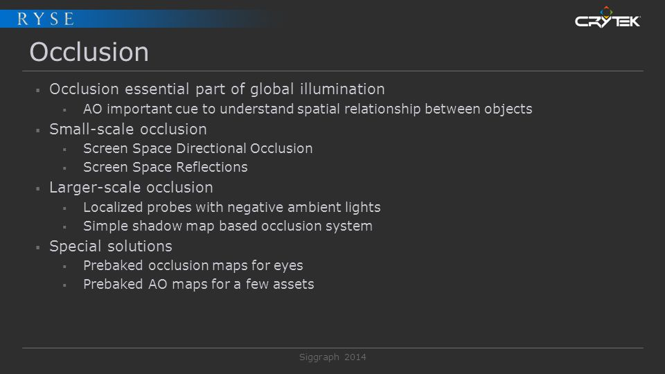 Occlusion Occlusion essential part of global illumination