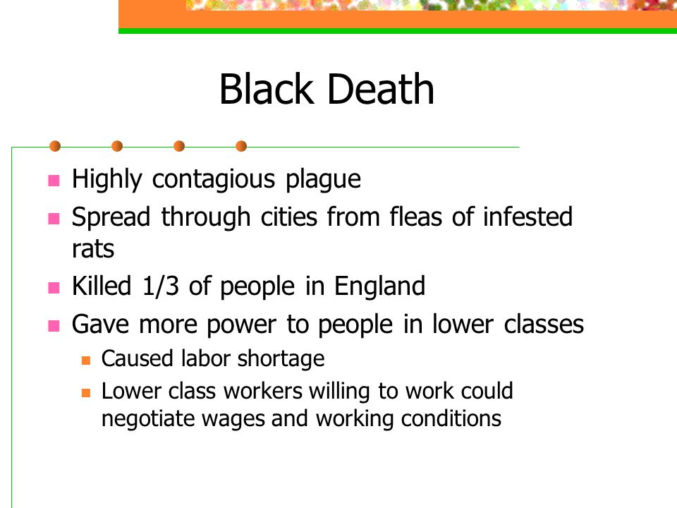 Black Death Highly contagious plague