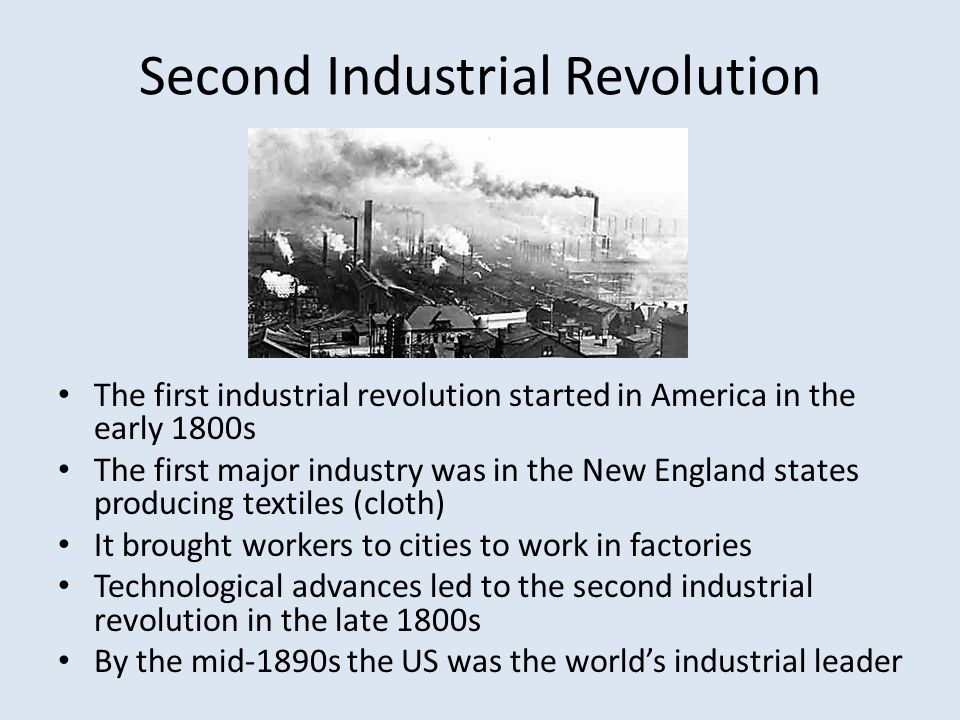 the industrial revolution and the american Learn about some of the most important inventions of the industrial revolution and how they transformed life globally significant events of the american industrial revolution did cotton drive the industrial revolution, or are things more complicated.