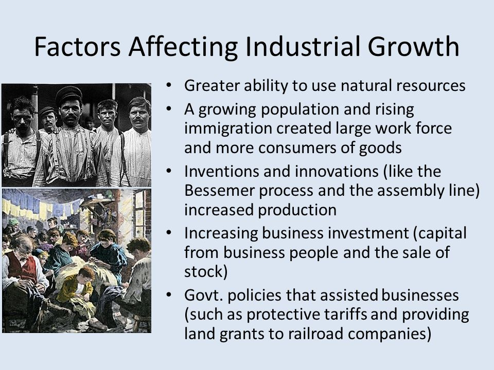 Factors Affecting Industrial Growth