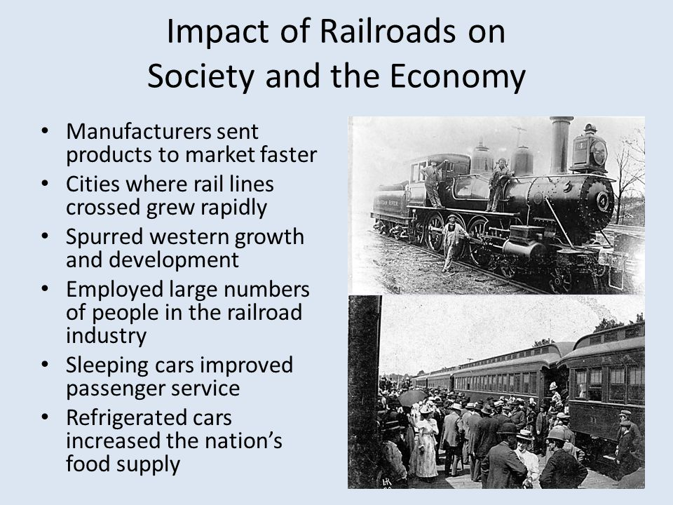 Impact of Railroads on Society and the Economy