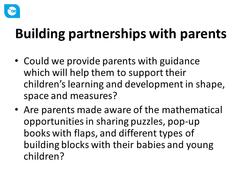 Building partnerships with parents