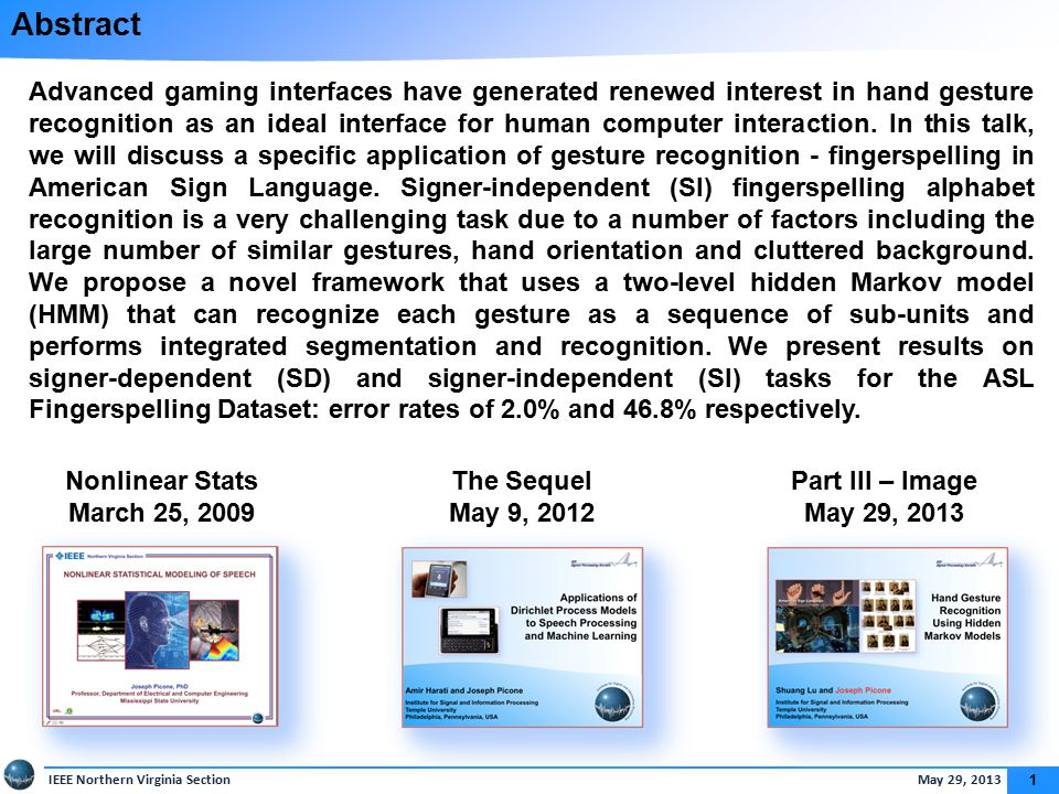 Gesture Recognition… In The Movies…