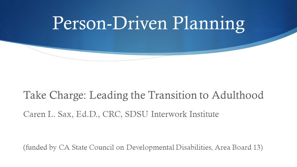 Person-Driven Planning