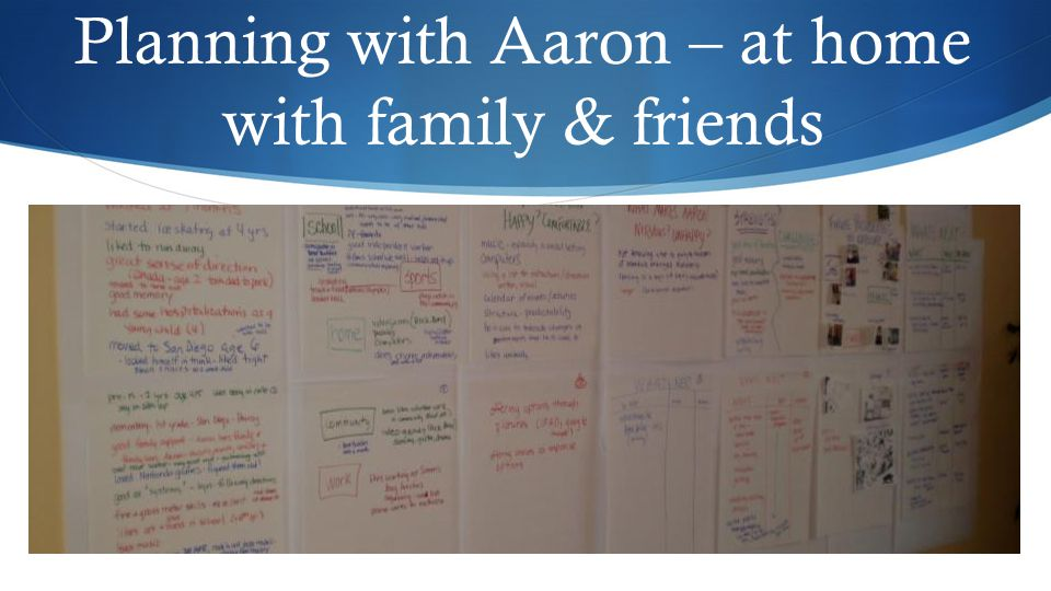 Planning with Aaron – at home with family & friends