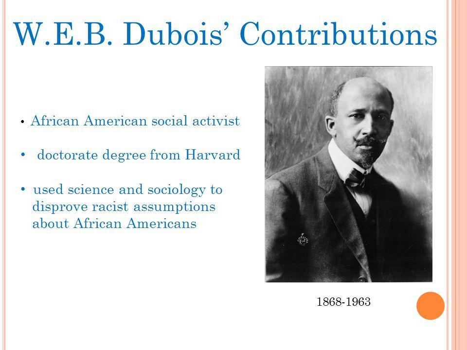 W.E.B. Dubois' Contributions