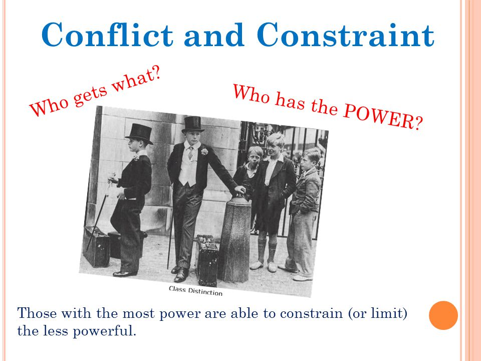 Conflict and Constraint