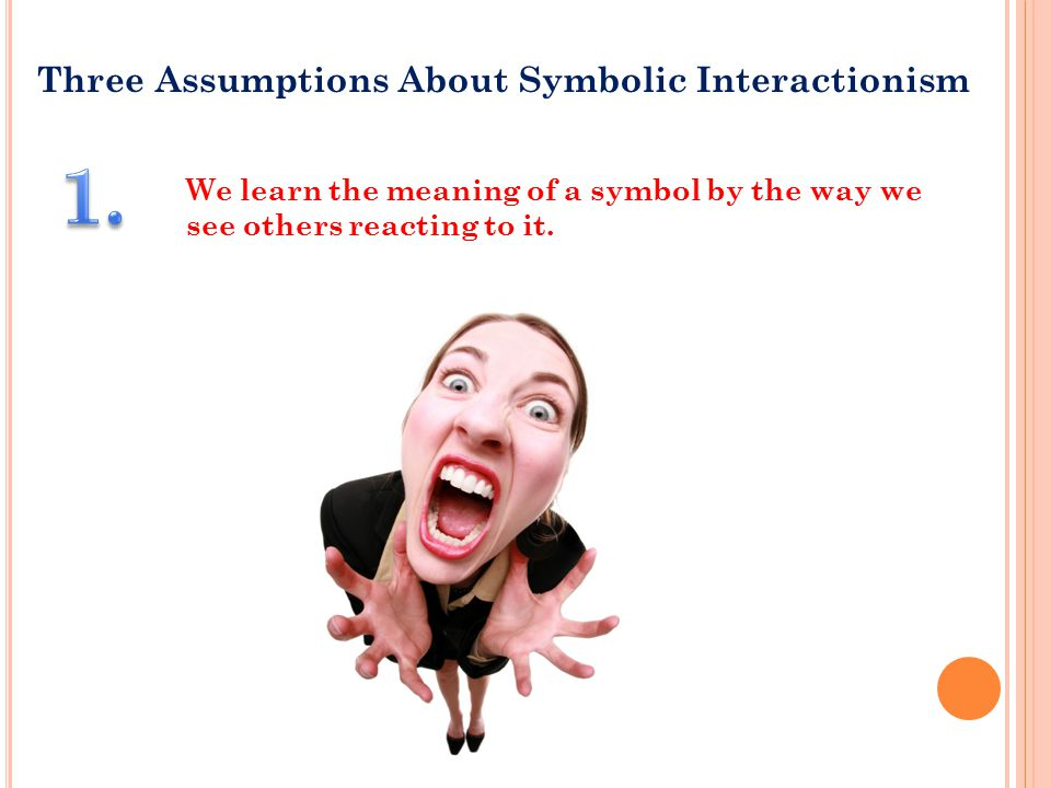 1. Three Assumptions About Symbolic Interactionism