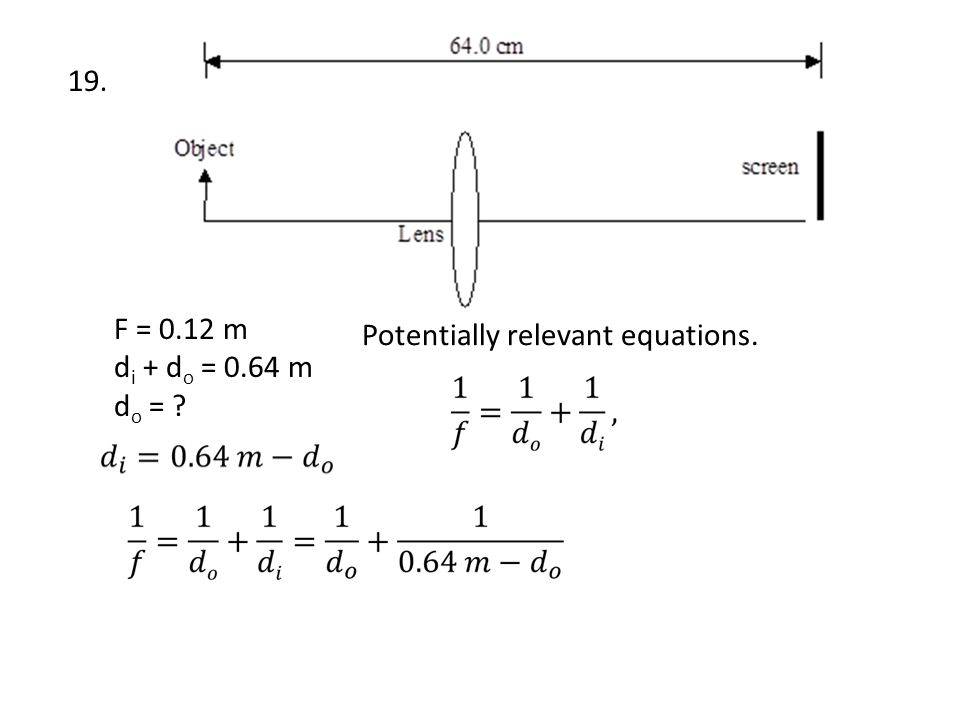 Potentially relevant equations.