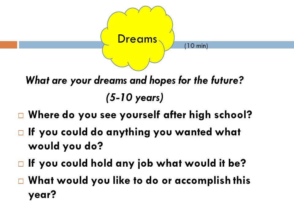 What are your dreams and hopes for the future